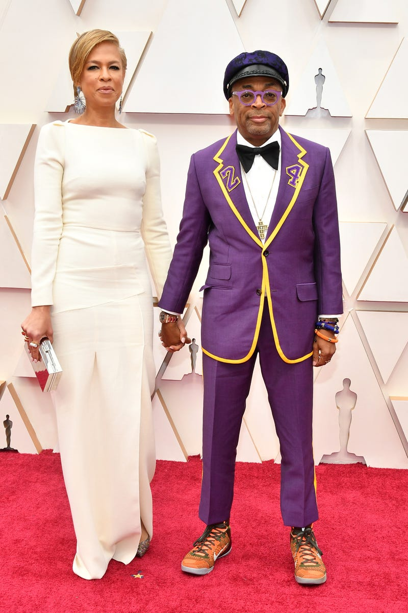spike lee and wife tonya lewis lee at 2020 oscars