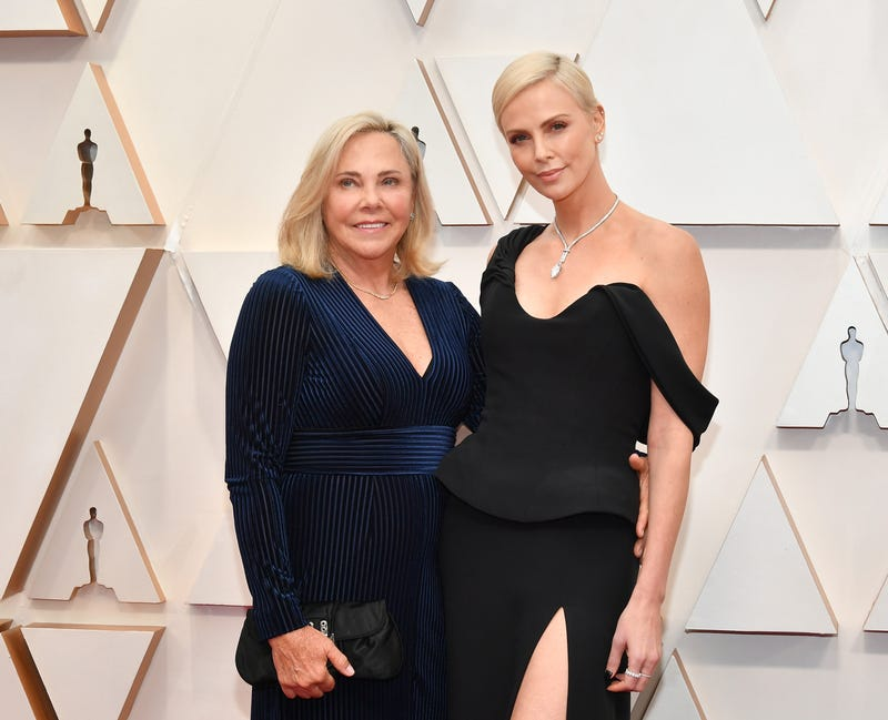 Gerda Jacoba Aletta Maritz and Charlize Theron at the 2020 oscars