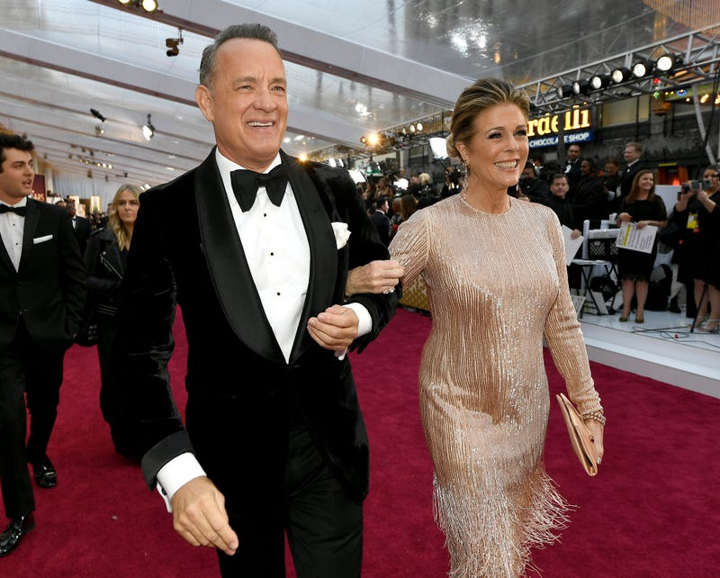 tom hanks and rita wilson at 2020 oscars
