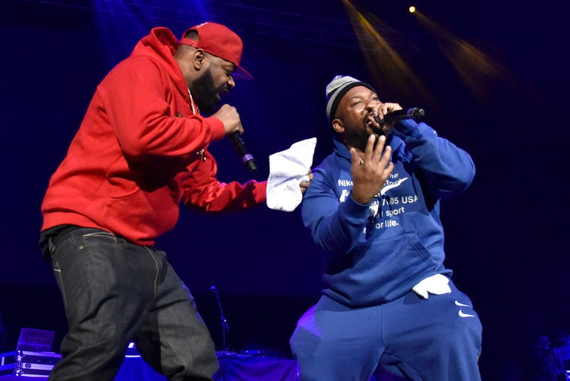 Ghostface Killah (L) and Raekwon of Wu-Tang Clan perform during EMBA Fest 2020 at Oakland Arena on February 21, 2020 in Oakland, California. (Photo by Tim Mosenfelder/Getty Images)