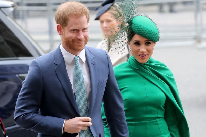 Prince Harry, Duke of Sussex and Meghan, Duchess of Sussex meets children as she attends the Commonwealth Day Service 2020 on March 09, 2020 in London, England.