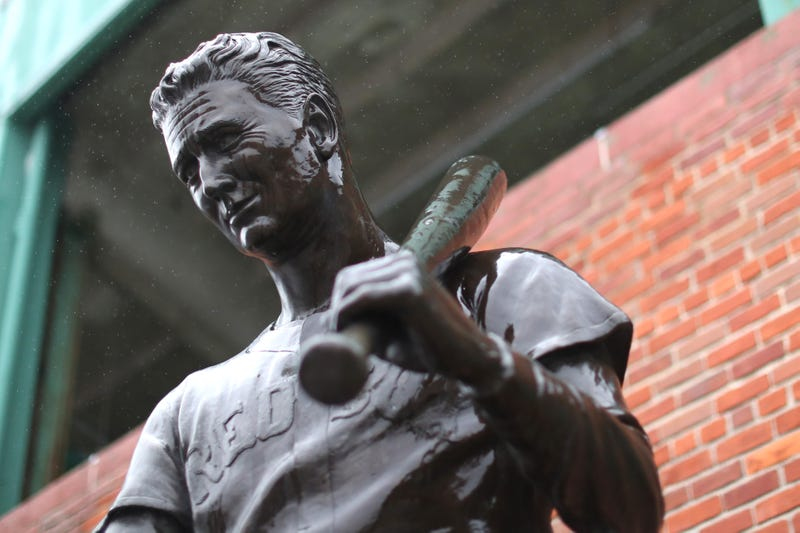Red Sox legend Ted Williams.