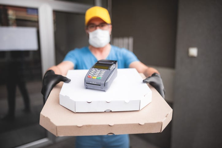 pizza delivery during coronavirus