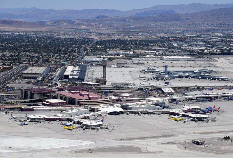 An overhead view of McCarran International Airport