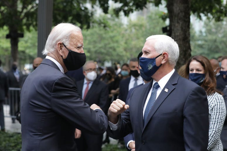 Joe Biden and Mike Pence