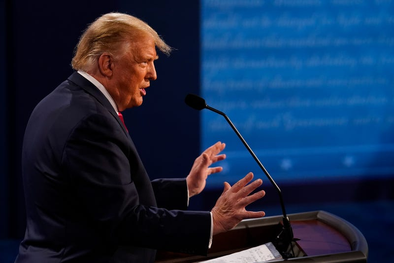 President Donald Trump answers a question during the second and final presidential debate at Belmont University on October 22, 2020 in Nashville, Tennessee.