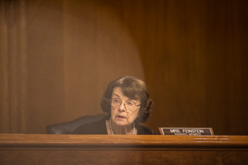 "Sen. Dianne Feinstein, (D-CA) speaks during the ""Oversight of the Crossfire Hurricane Investigation: Day 4"" in the Dirksen Senate Office Building on November 10, 2020 in Washington, DC."
