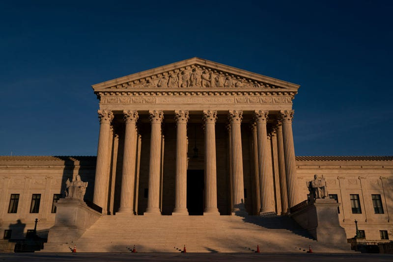 The U.S. Supreme Court stands on December 11, 2020 in Washington, DC.