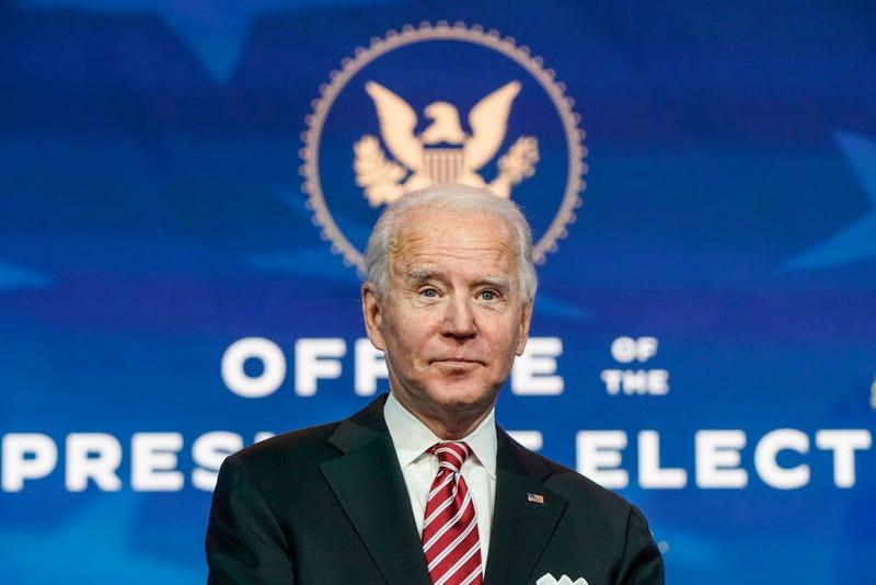 President-elect Joe Biden announces Miguel Cardona as his nominee for Education Secretary at the Queen theatre on December 23, 2020 in Wilmington, Delaware.