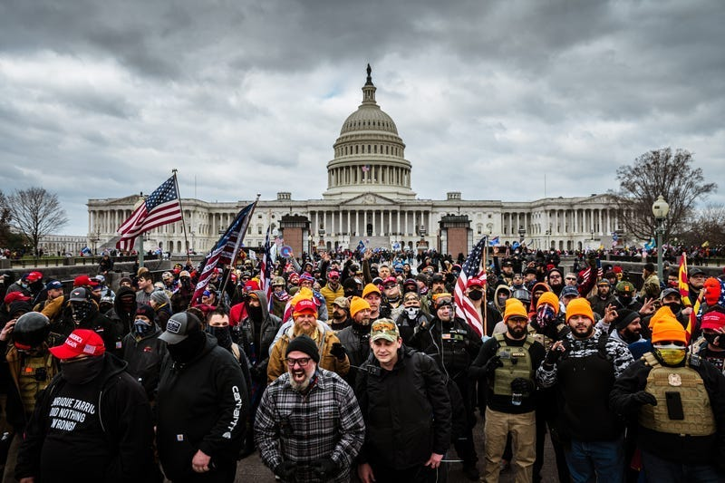 File photo: Pro-Trump protesters gather in front of the U.S. Capitol Building on January 6, 2021 in Washington, D.C