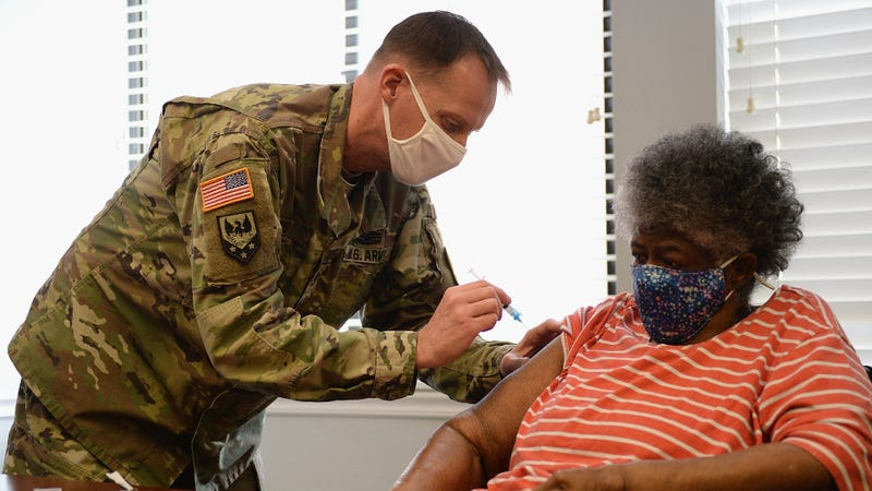 National Guard vaccinating tens of thousands of civilians daily