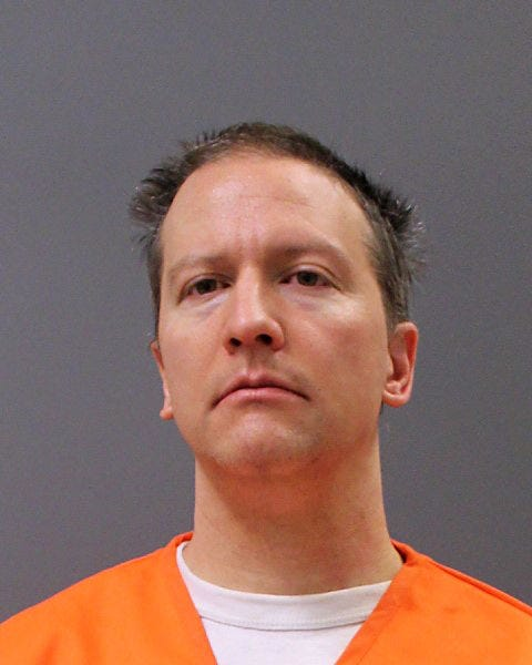 Former Minneapolis police officer Derek Chauvin poses for a booking photo after his conviction April 21, 2021, in Minneapolis, Minnesota.