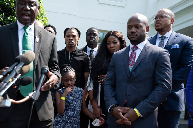 George Floyd family and Lil Baby, Ben Crump