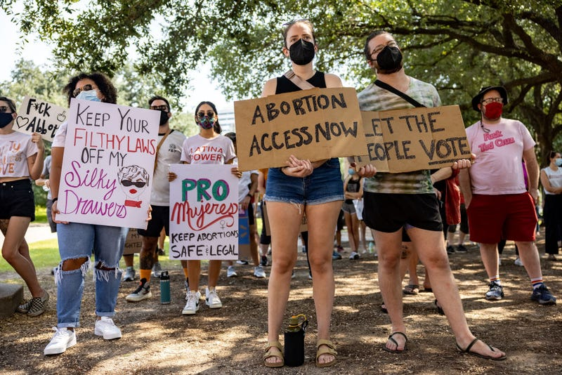 Abortion rights activists rally at the Texas State Capitol on September 11, 2021 in Austin, Texas.