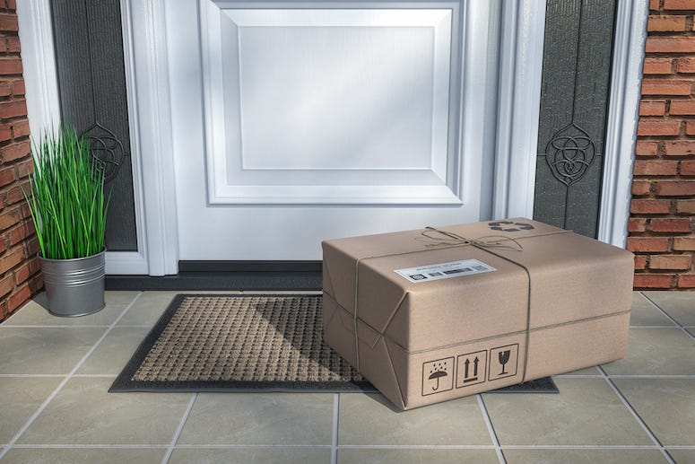 Package sitting on porch