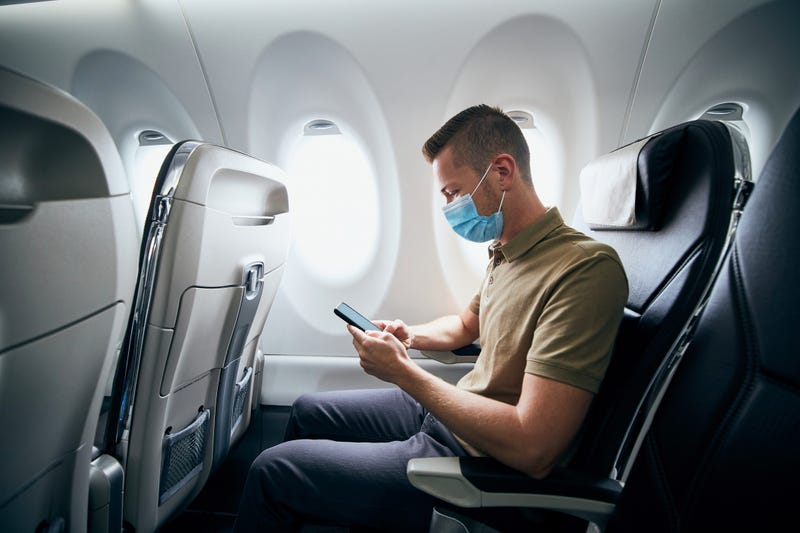 """Passengers are still required to wear their masks on planes unless """"actively"""" eating or drinking."""