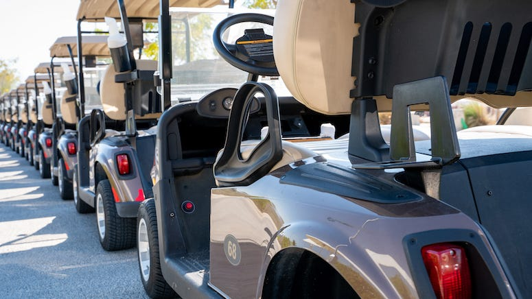 Naked woman arrested after driving golf cart through the middle of a police standoff