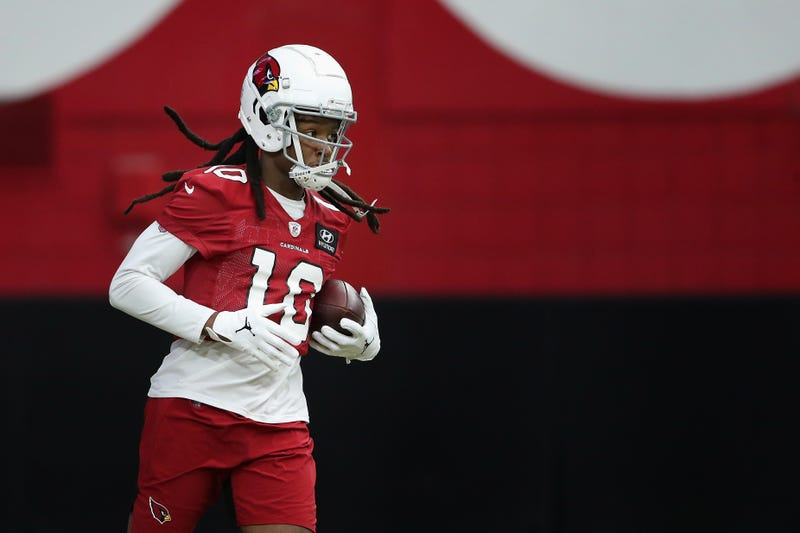 DeAndre Hopkins during a Cardinals training camp session