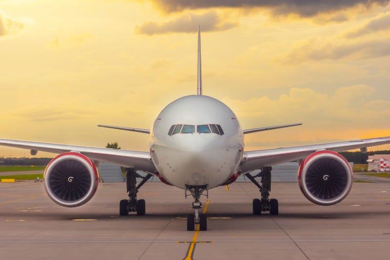 Plane stock photo.