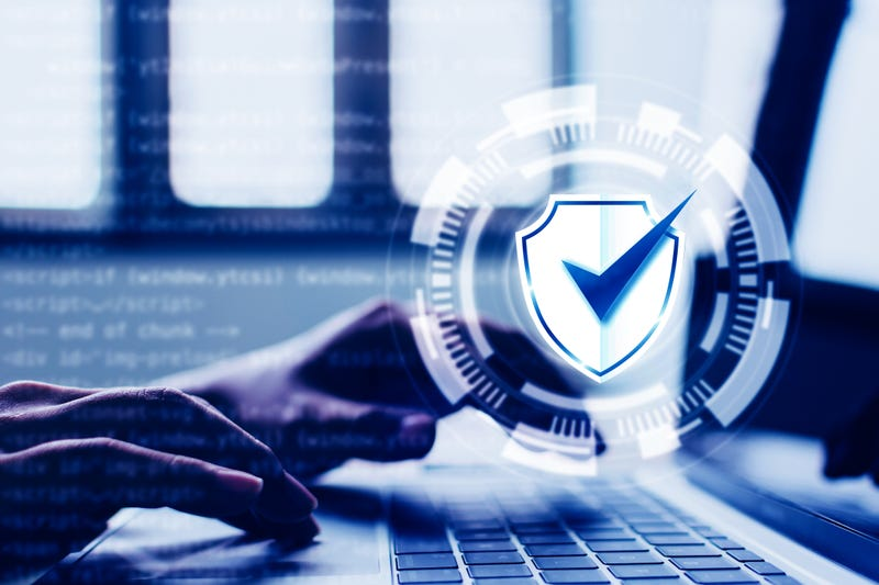 Protection network security computer and safe your data concept.