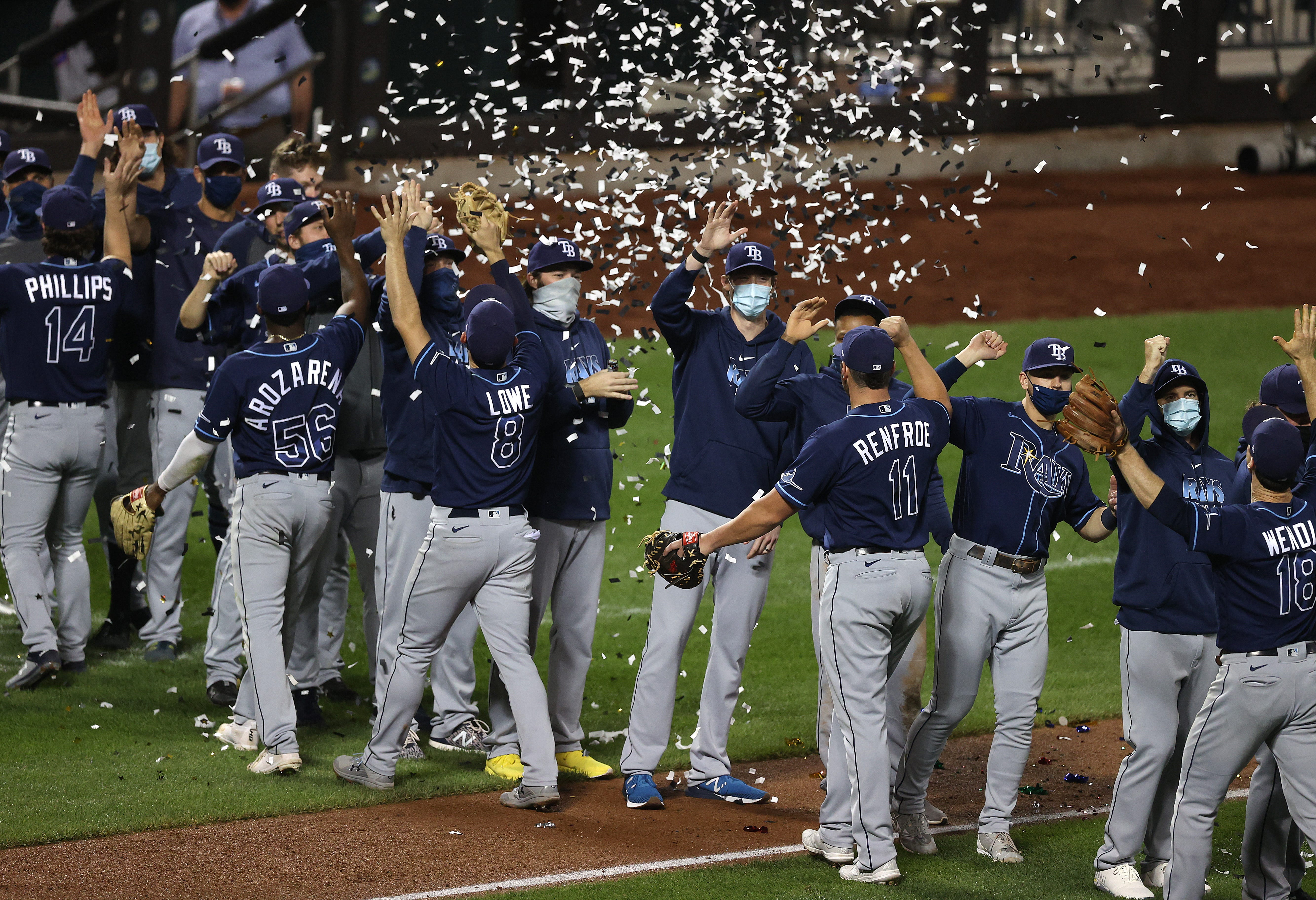 Rays celebrate first AL East title since 2010 by dancing the night away at Citi Field