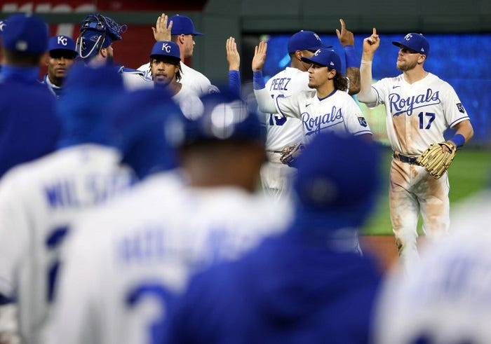 The Royals get a 12 - 3 win over the Cardinals
