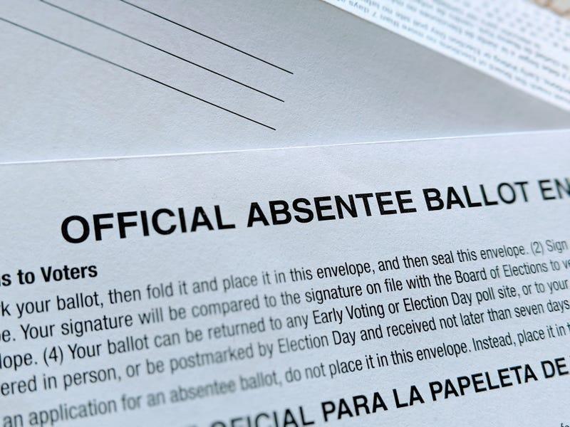 Absentee ballot for the 2020 Presidential Election.
