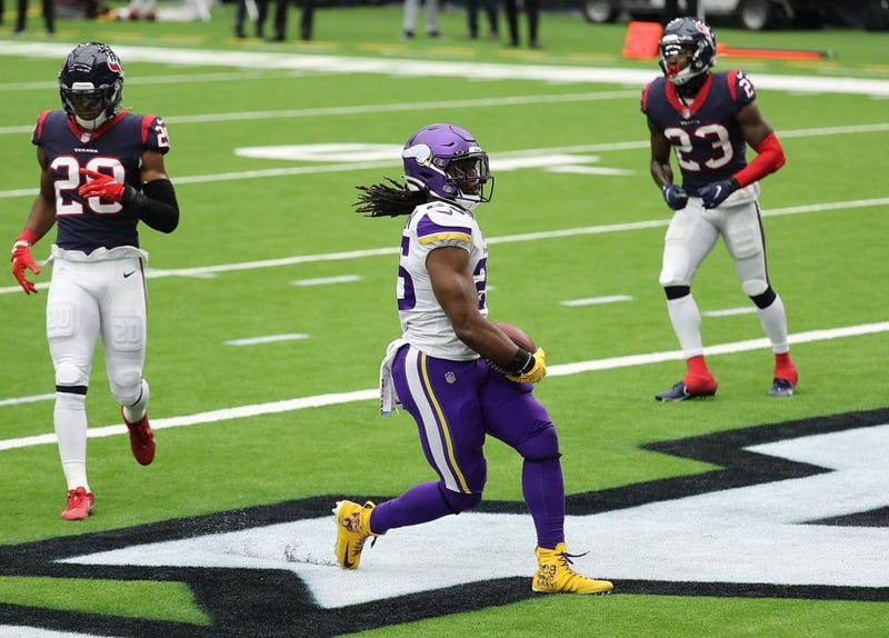 Alexander Mattison finds the end zone against the Texans.