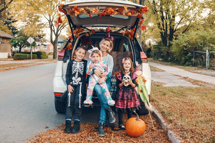 trick or treating from car
