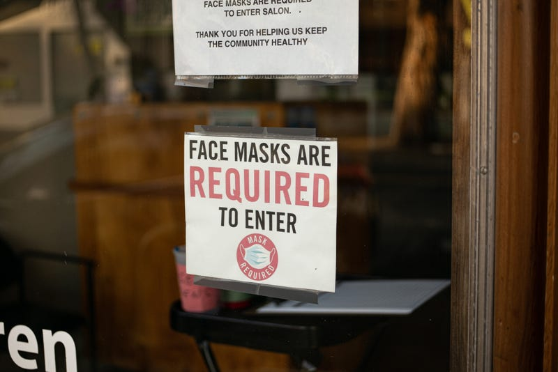 Face masks are required to enter sign