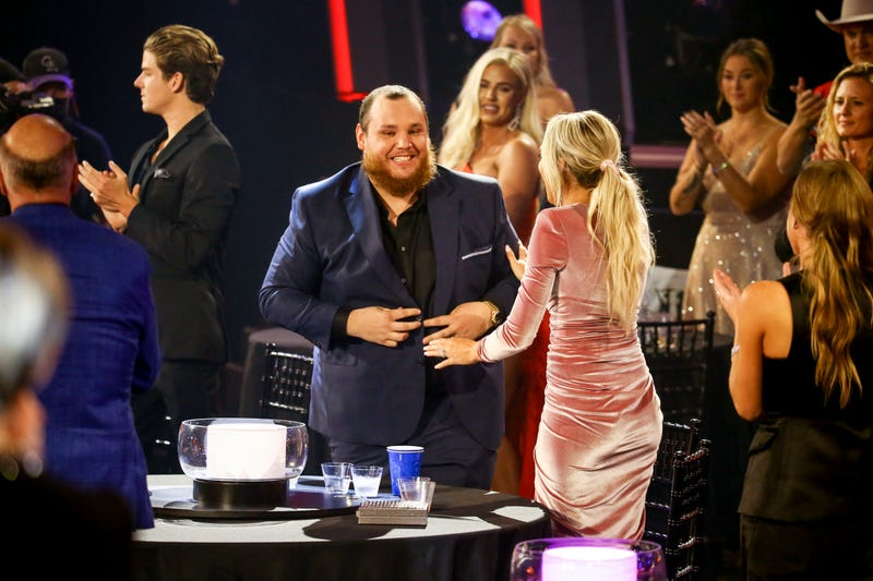 Luke Combs and wife Nicole Hocking at the CMA Awards
