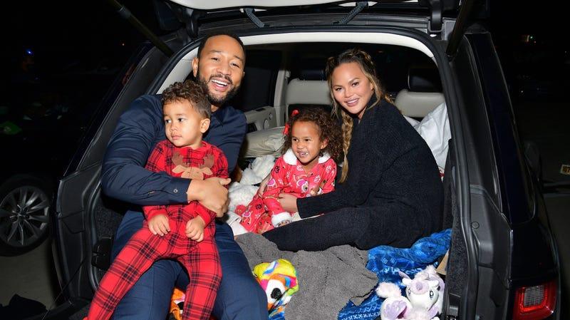 John Legend, Chrissy Teigen & Kids