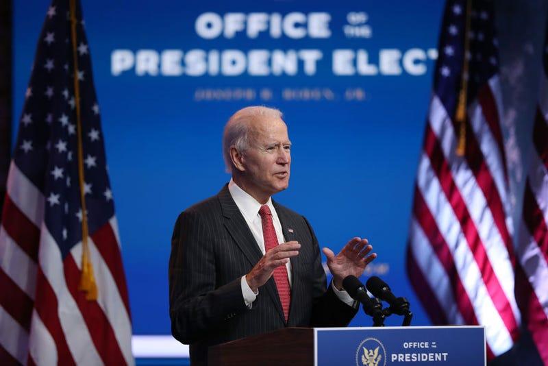U.S. President-elect Joe Biden speaks