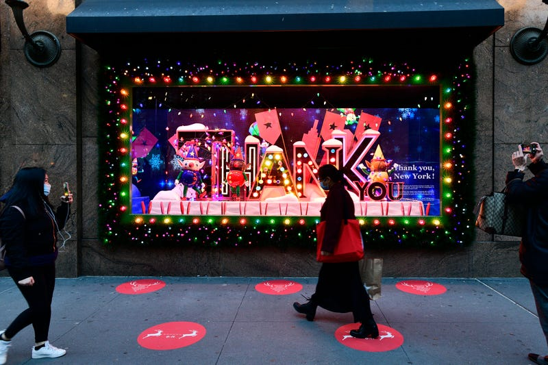 A view of the window display as Macy's Herald Square unveils Give, Love, Believe 2020 Holiday Windows on November 19, 2020 in New York City.