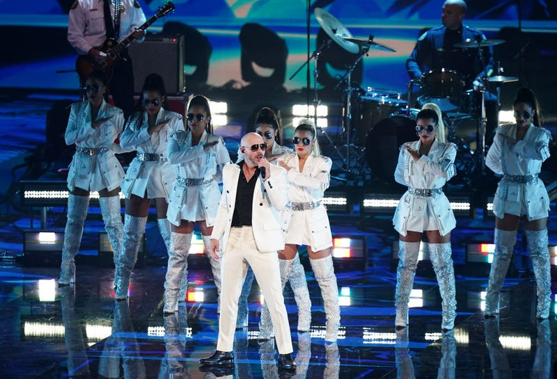 Pitbull performs with First Responders at the 2020 Latin GRAMMY Awards on November 15, 2020 in Miami, Florida.