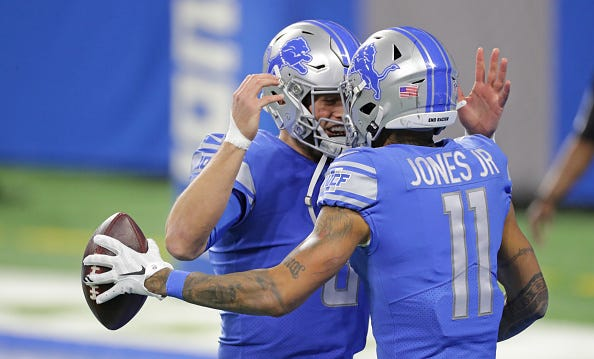 Matthew Stafford, Marvin Jones Jr.