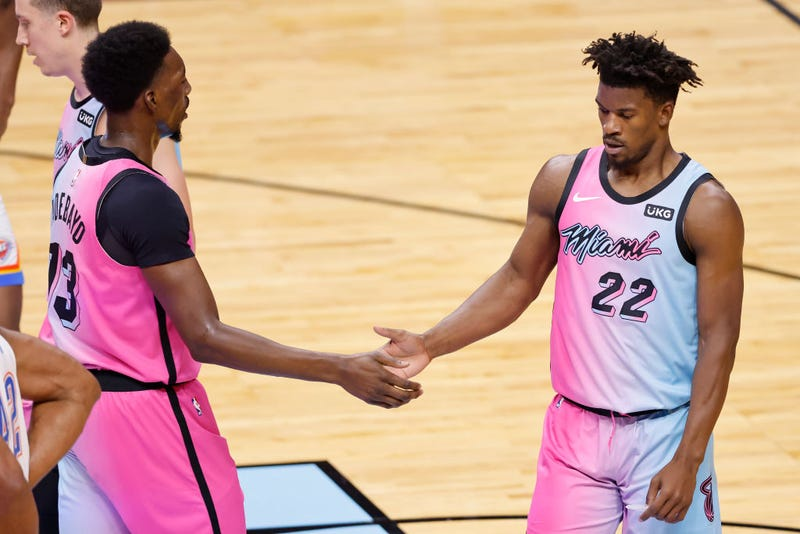 Bam Adebayo and Jimmy Butler