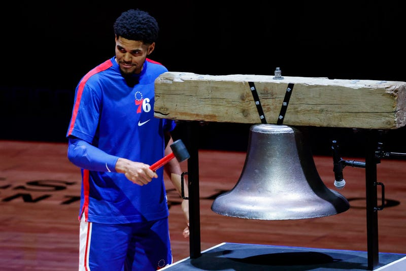 Tobias Harris rings the bell
