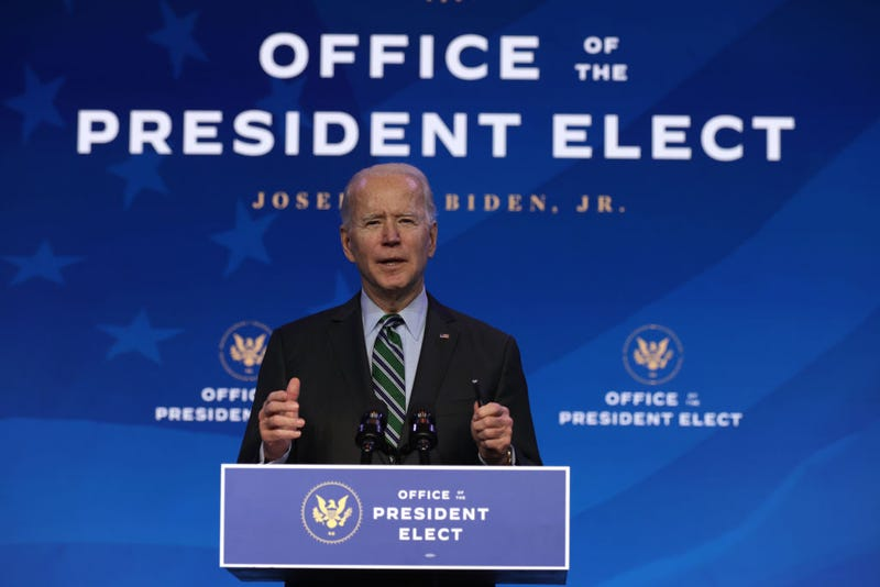 U.S. President-elect Joe Biden speaks during an announcement January 16, 2021