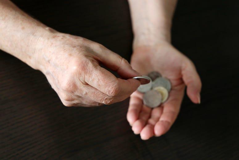 Man, Palm, Hand, Coins