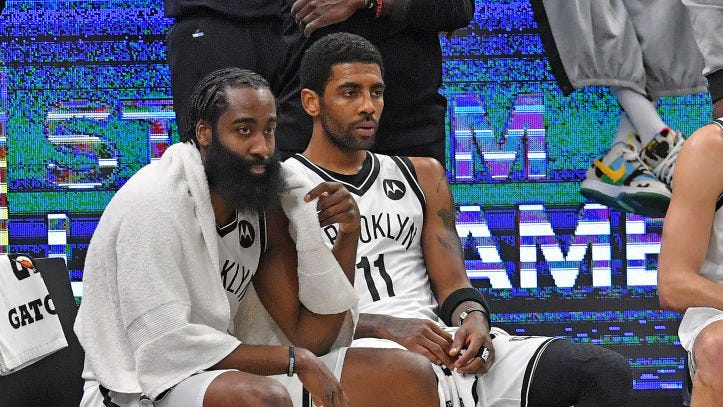 Kyrie Irving tells fans 'don't trip' after new-look Nets drop two straight games to Cavaliers