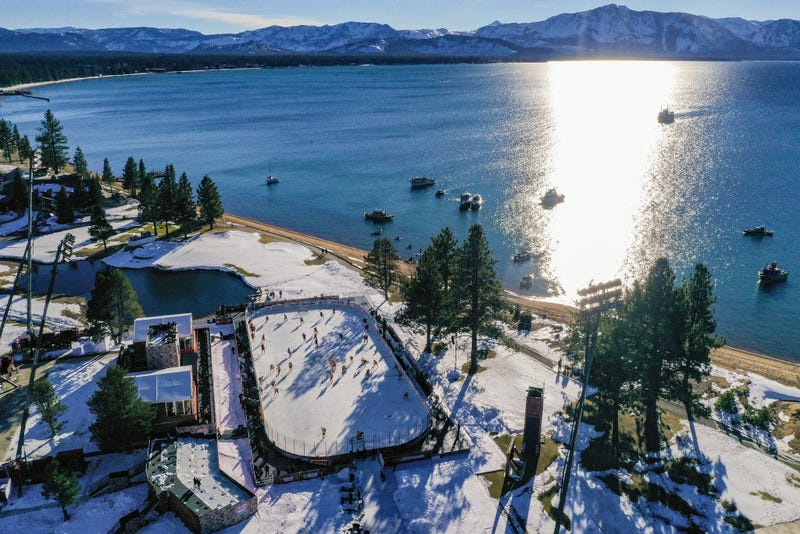 The scene for Sunday's NHL Outdoors Game at Lake Tahoe