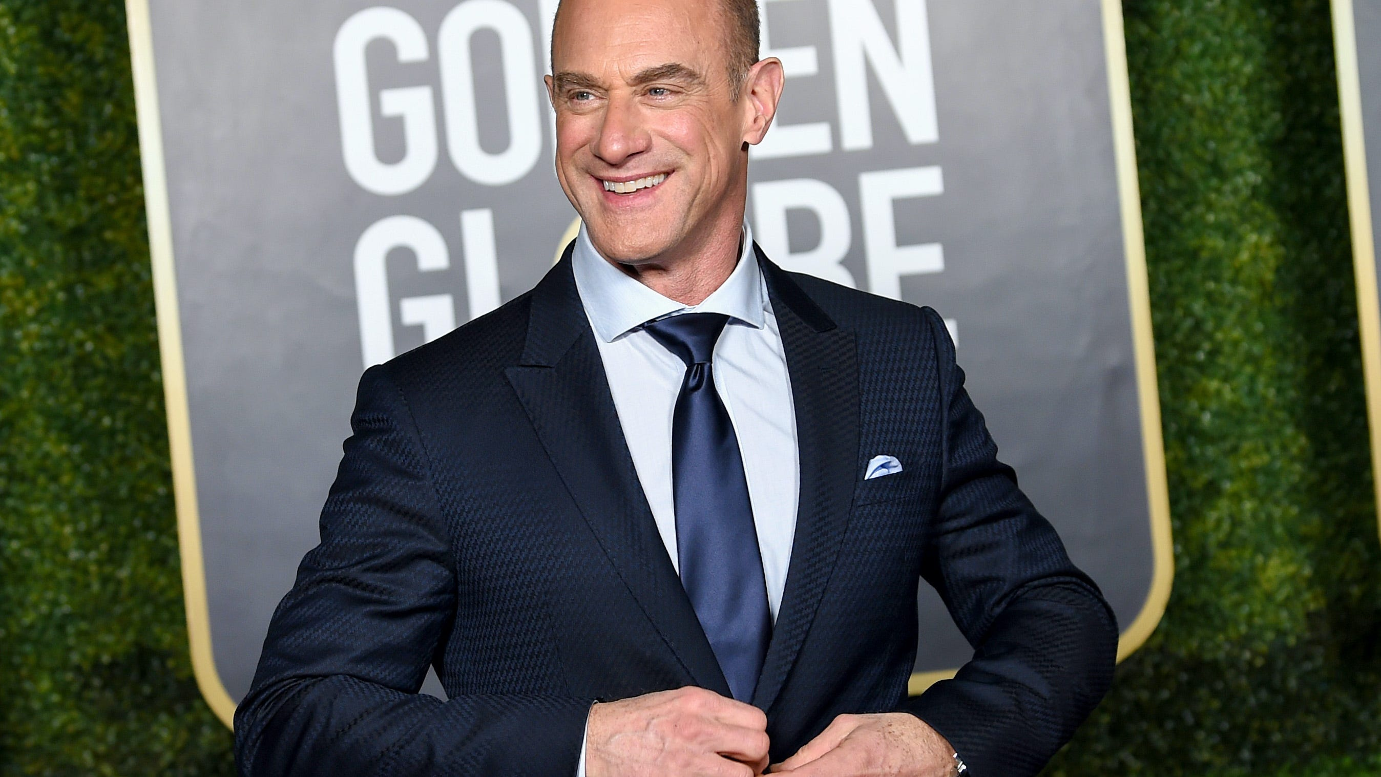 Christopher Meloni, 60, shows off buff biceps on set of 'Law & Order: Organized Crime'
