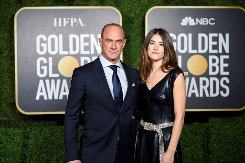 Christopher Meloni and daughter Sophia Meloni at the 2021 Golden Globes