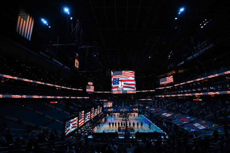 Gladys Knight performs the national anthem prior to the 70th NBA All-Star Game at State Farm Arena on March 07, 2021 in Atlanta, Georgia.