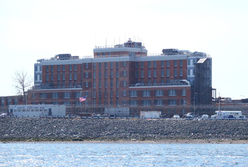A cell block is seen at Rikers Island Correctional Center in the East River on March 9, 2021 in New York City.