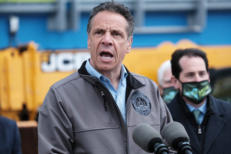 Governor Andrew Cuomo speaks at Bay Park Water Reclamation Facility on Earth Day on April 22, 2021 in East Rockaway, New York