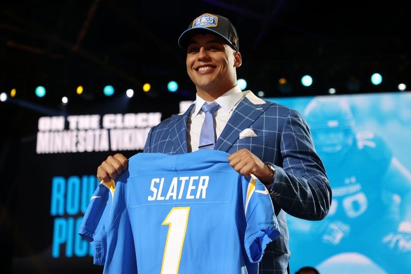 Chargers select offensive tackle Rashawn Slater in first round of 2021 NFL Draft.