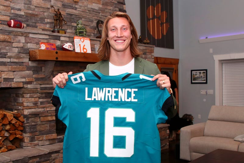 Jaguars select QB Trevor Lawrence with the first overall pick in the 2021 NFL Draft.