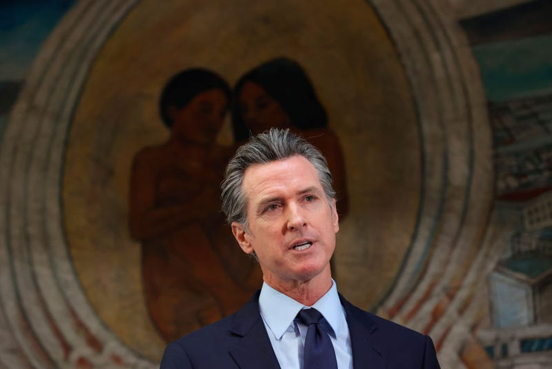 California Gov. Gavin Newsom speaks during a press conference at The Unity Council on May 10, 2021 in Oakland, California.